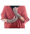 Cablestitch wrist warmers with buttons - Pure Alpaca Wool