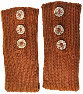 Wrist warmers with buttons - Pure Alpaca Wool
