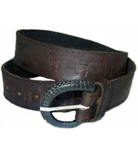 """Llamas"" belt - Genuin leather"