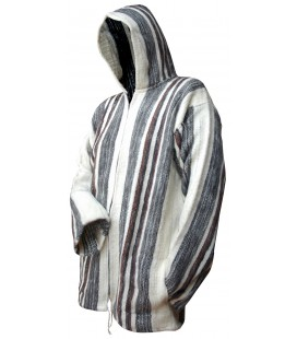 Hooded Jacket for Men - Pure Sheep Wool
