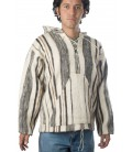 Striped Jumper with Hood - Pure Sheep Wool