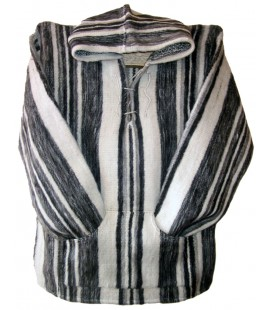 Striped Jumper with Hood - Pure Wool
