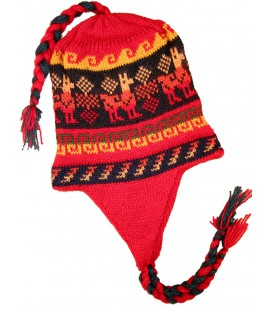 """Little Lama"" Colorful Andean Hat"