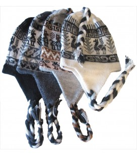 """Little Lama"" Andean Hat Natural Colors"