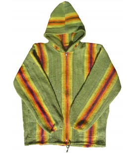 Coloured vertical stripe jacket - Pure Wool