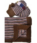 """Santa Clara"" Set gloves and XL scarf - 100% alpaca"