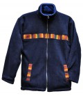 Reversible Fleece Jacket with aguayo