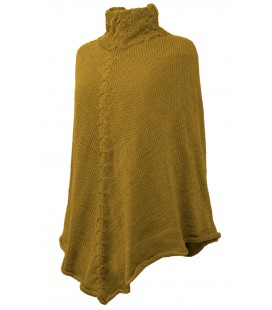 "High neck ""Panqara"" Poncho - Alpaca wool"
