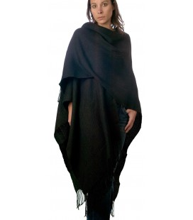 Long Poncho Ruana - Alpaca wool