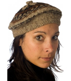 Natural colors Beret - Pure Lama Wool