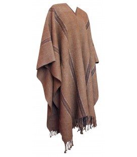 Poncho Natural Colors - Llama Wool