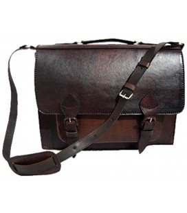 1 pocket Briefcase with shoulder belt - Genuin Lama leather