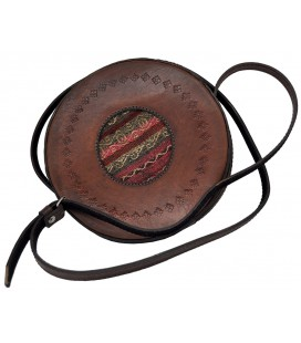"""Istalla"" round shoulder bag - Genuine leather"